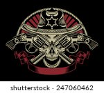 illustration of sheriff's skull ... | Shutterstock .eps vector #247060462
