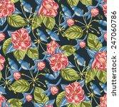seamless flower pattern. hand... | Shutterstock .eps vector #247060786