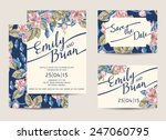 set of wedding invitations... | Shutterstock .eps vector #247060795