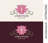 lotus icon and logo template.... | Shutterstock .eps vector #247062382