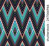 Seamless Aztec Ikat Pattern
