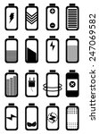 battery life icons set | Shutterstock .eps vector #247069582