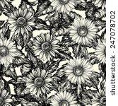 vintage floral backgrounds.... | Shutterstock .eps vector #247078702