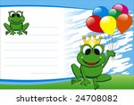 vector birthday card with frog...   Shutterstock .eps vector #24708082