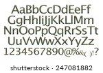 alphabet   3d letters from gold ... | Shutterstock . vector #247081882