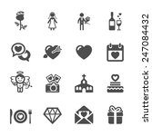wedding icon set 2  vector... | Shutterstock .eps vector #247084432