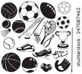 sport ball black vector icons | Shutterstock .eps vector #247087462