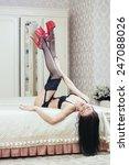 strip plastic dancer with red... | Shutterstock . vector #247088026