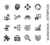 business strategy icon set ... | Shutterstock .eps vector #247089118
