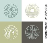 vector line badges with... | Shutterstock .eps vector #247090318