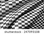 3d Rendering Of A Checkered Flag