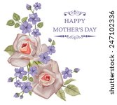 happy mother's day floral... | Shutterstock .eps vector #247102336