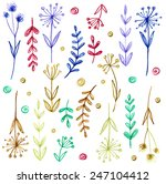 set of flowers  garland.... | Shutterstock .eps vector #247104412