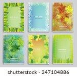 brochure cover. green... | Shutterstock .eps vector #247104886