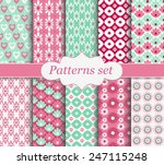 set of patterns pink | Shutterstock .eps vector #247115248