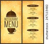 restaurant menu design. vector... | Shutterstock .eps vector #247115482