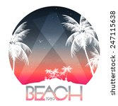 beach party poster with... | Shutterstock .eps vector #247115638
