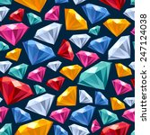 seamless colorful gemstones... | Shutterstock .eps vector #247124038