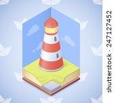 vector lighthouse    Shutterstock .eps vector #247127452