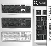 pc keyboards. different colors. ... | Shutterstock .eps vector #24713119