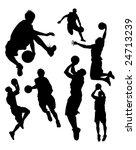 basketball silhouettes | Shutterstock .eps vector #24713239
