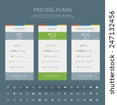 vector pricing table in flat... | Shutterstock .eps vector #247132456