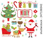 christmas set | Shutterstock .eps vector #247138342