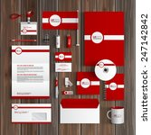 red classic corporate identity... | Shutterstock .eps vector #247142842