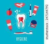 dental hygiene medical concept... | Shutterstock .eps vector #247144792