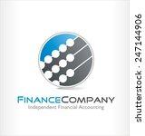 accounting vector logo symbol