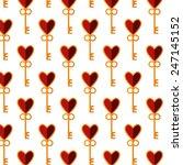 stylized key from heart