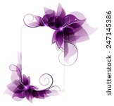 Transparent Purple Flowers On...