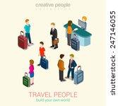 travel people flat 3d web...