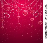 pink valentines background with ... | Shutterstock . vector #247155226