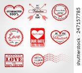 vector illustration of love... | Shutterstock .eps vector #247157785