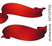 red waving ribbon banner   Shutterstock . vector #247157932