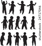 Toddler Silhouettes   Vector...