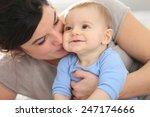 portrait of happy mother with... | Shutterstock . vector #247174666