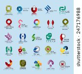 unusual icons set   isolated on ... | Shutterstock .eps vector #247176988