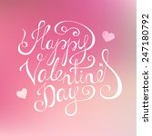happy valentines day lettering | Shutterstock .eps vector #247180792