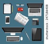 modern detailed icons... | Shutterstock .eps vector #247186408