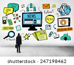 news breaking news daily news... | Shutterstock . vector #247198462