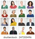 people diversity faces human... | Shutterstock . vector #247203496