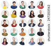 diverse people multi ethnic... | Shutterstock . vector #247203562