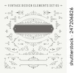 vintage vector swirls ornaments ... | Shutterstock .eps vector #247206826