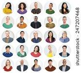 diverse people multi ethnic... | Shutterstock . vector #247207468