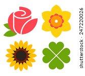 Flower Icon Set   Rose ...