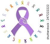 general cancer awareness ribbon ... | Shutterstock .eps vector #247222222
