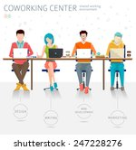concept of the coworking center.... | Shutterstock .eps vector #247228276