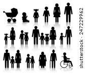 family icons set with shadows | Shutterstock .eps vector #247229962